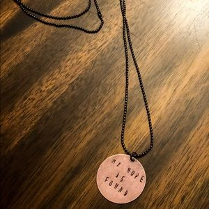 Jewelry - 33 inch handmade/letter stamped necklace